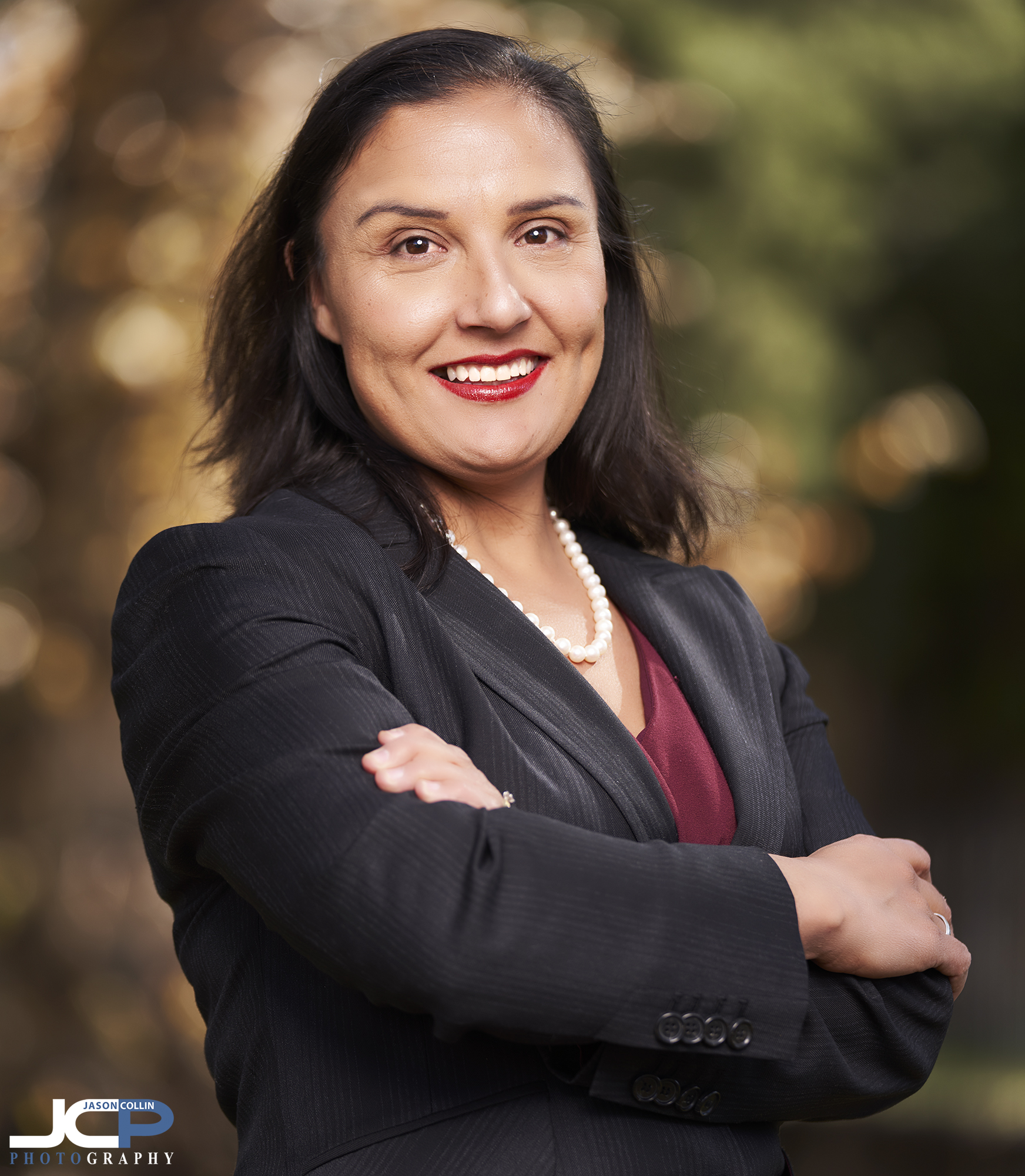 Cathedral Park in Santa Fe is the background for this political candidate portrait