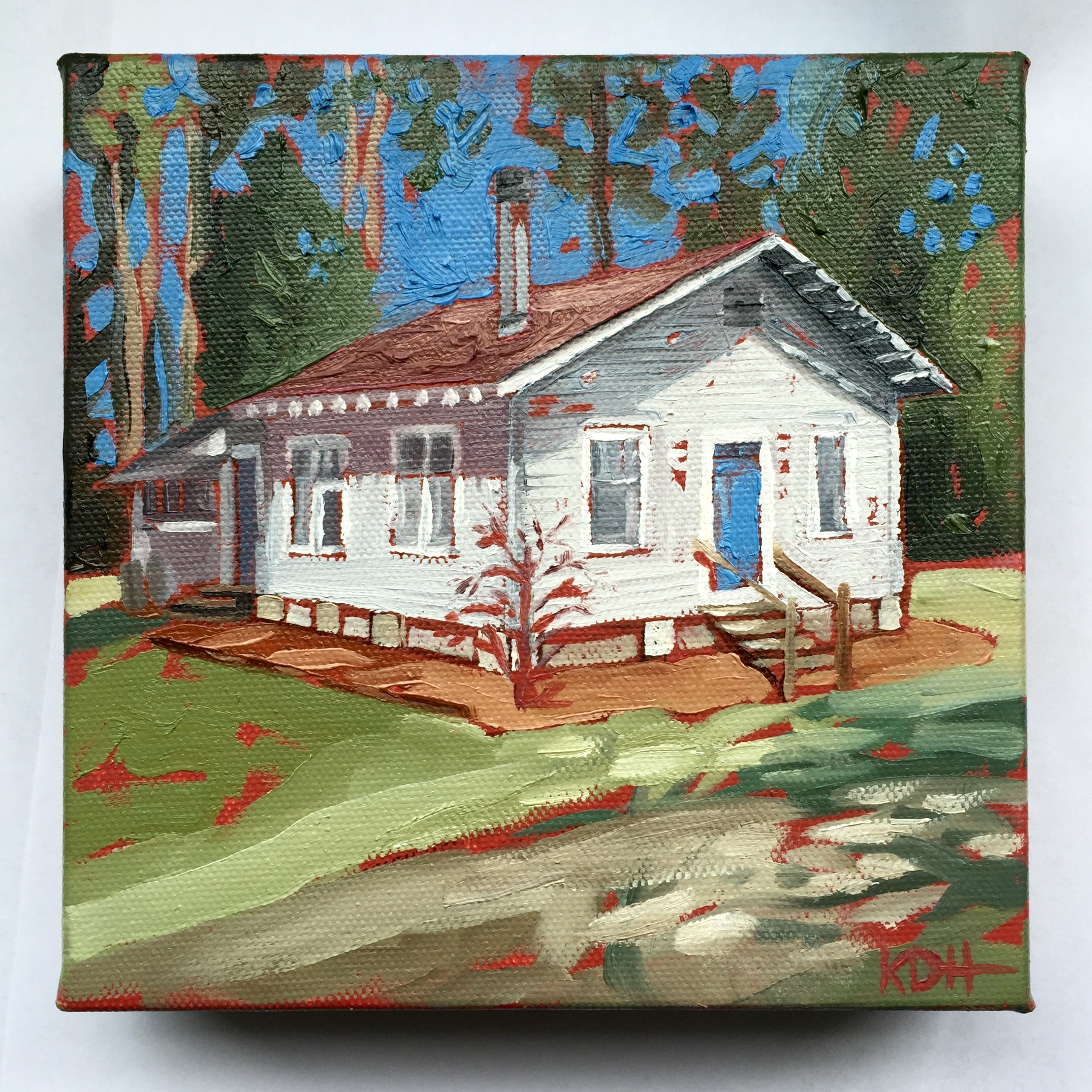 Country Cabin [oil on canvas]