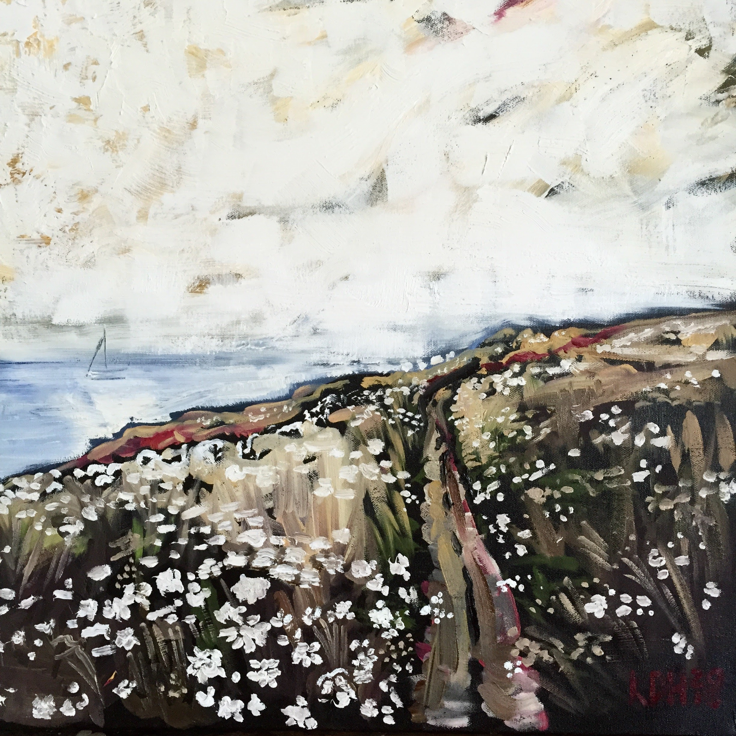 Sky & Field No. 1 [oil on canvas]
