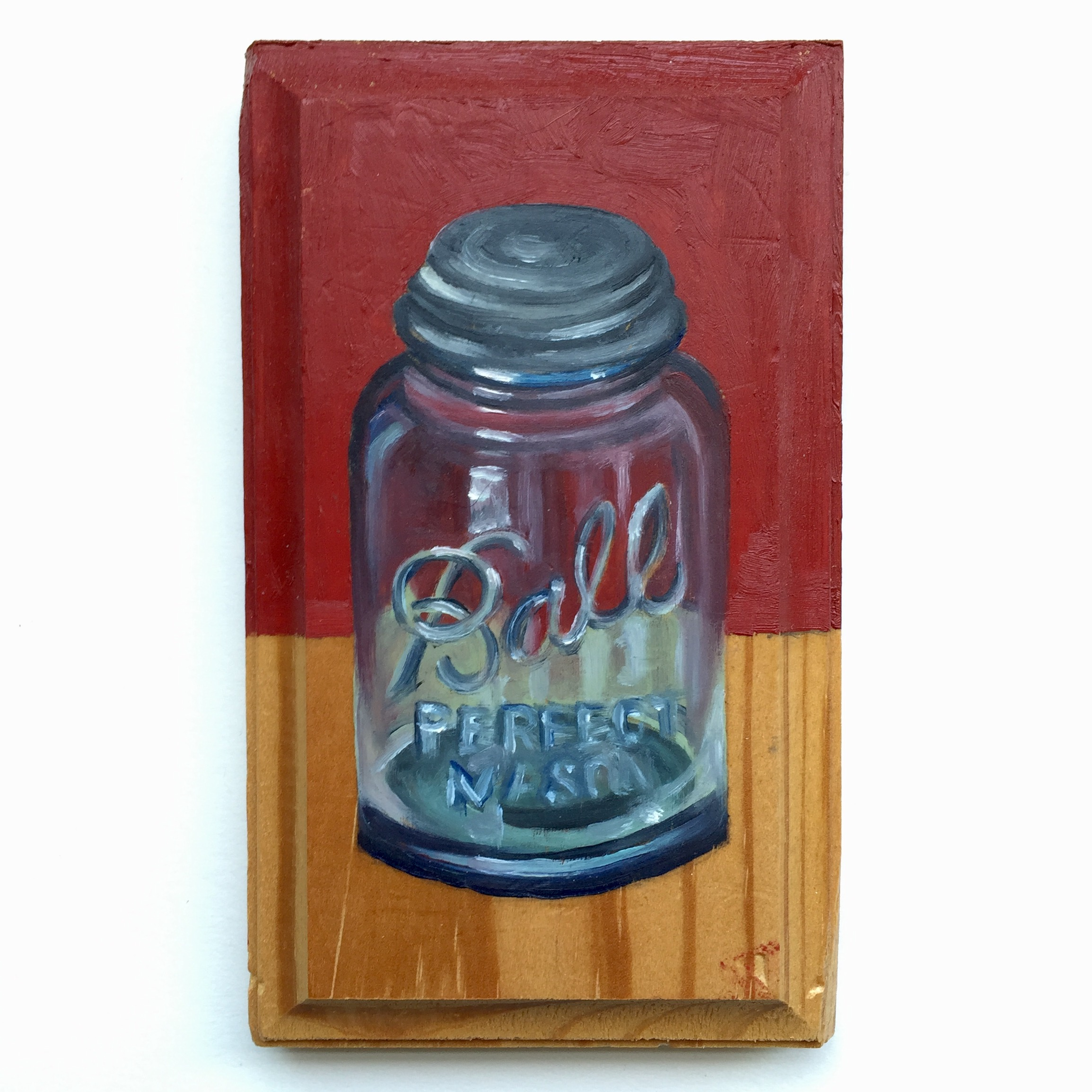 Red Jar [oil on wood]