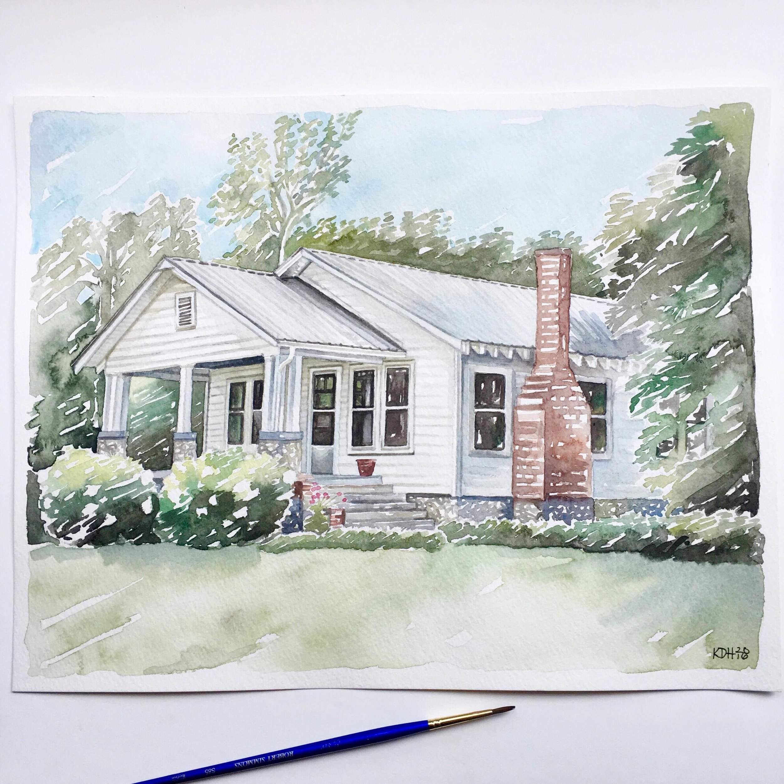 White Farmhouse [11x14]