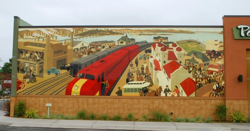 Panera's Emeryville, CA Store Mural