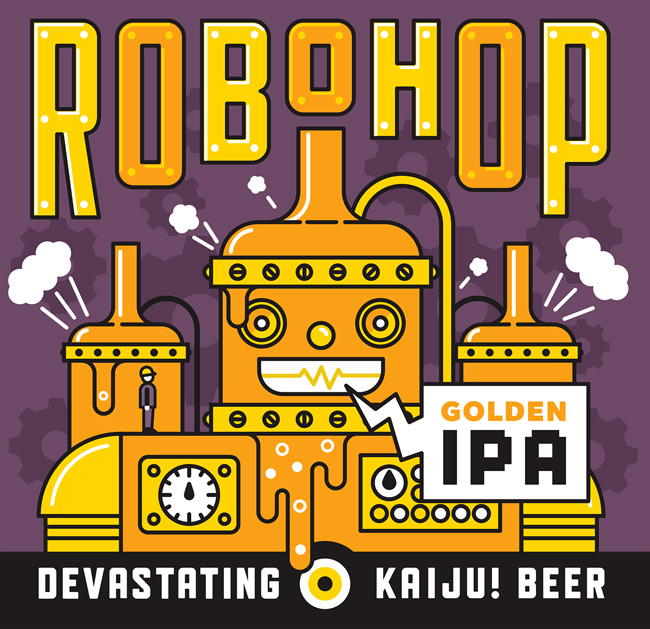 Mikey Burton from Scott Hull Associates Robohop Label