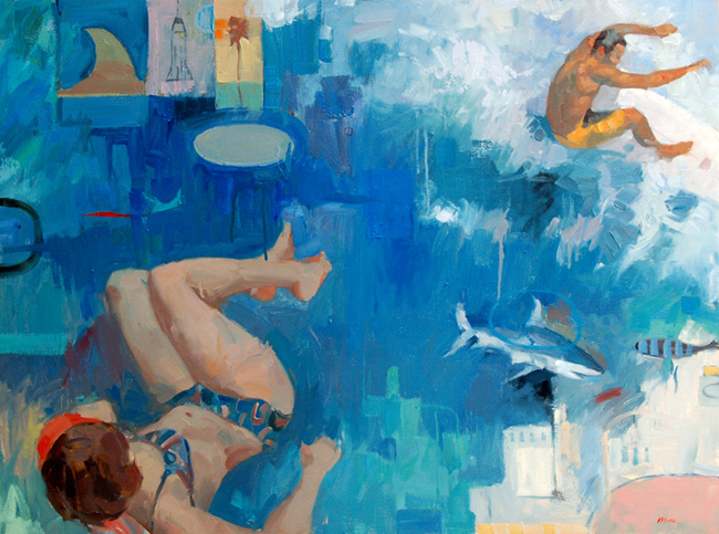 Larry Moore from Scott Hull Associates Surfology: Painting a life on Coca Beach