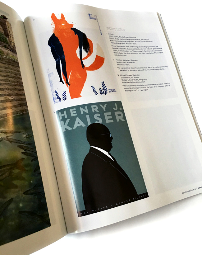 Penelope Dullaghan from Scott Hull Associates CA Illustration Annual selected