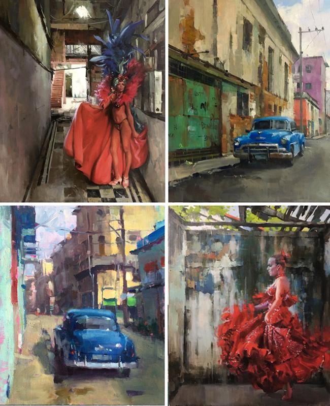 Larry Moore from Scott Hull Associates, Cuba Dancers and Blue Car