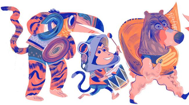 Meg Hunt from Scott Hull Associates Let's Mix iIt Up, tiger, monkey, bear