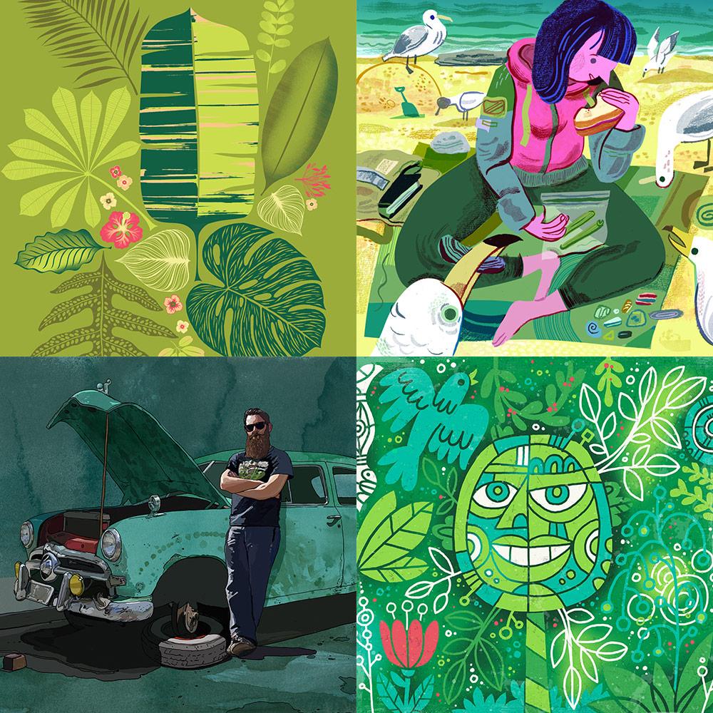 Images Left/Right, Top/Bottom:  Lisa Ballard ,  Meg Hunt ,  Dave Reinbold ,  Von Glitschka