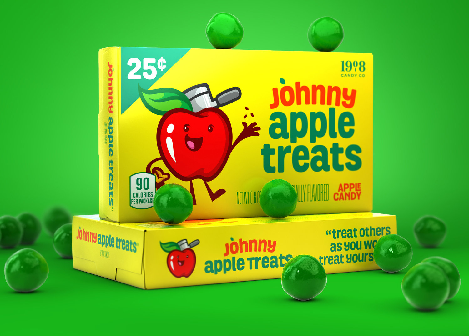 'Johnny Apple Treat' Brand Character & Packaging