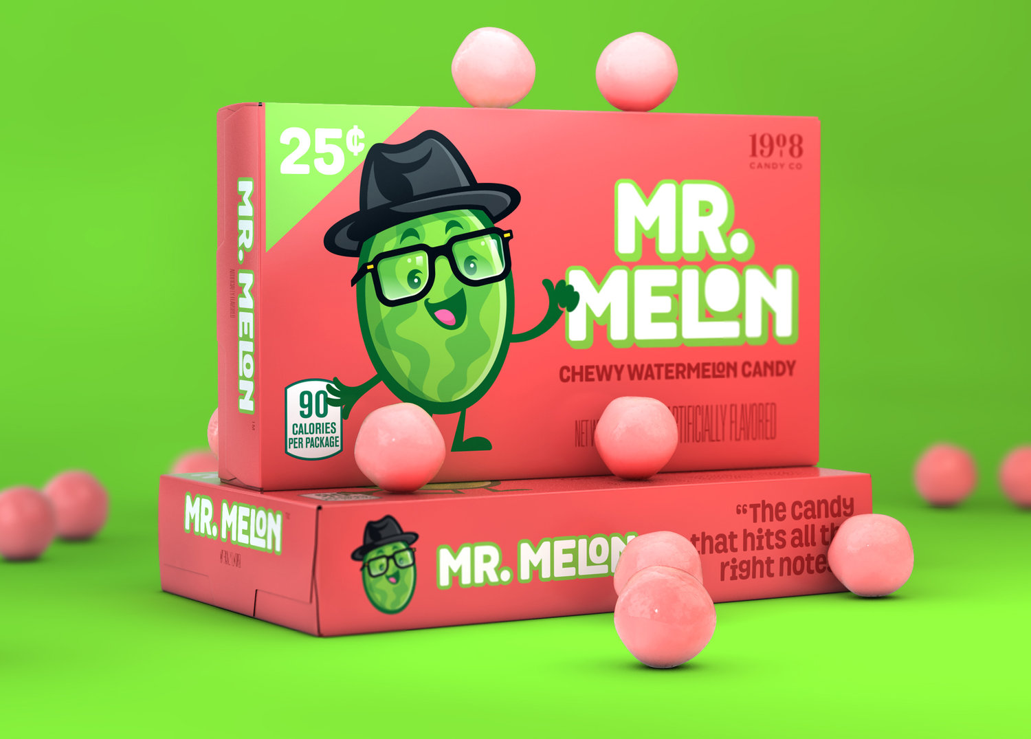 'Mr. Melon' Brand Character & Packaging