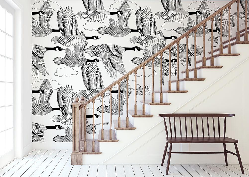 Kimball-Margaret-Geese-Wallpaper