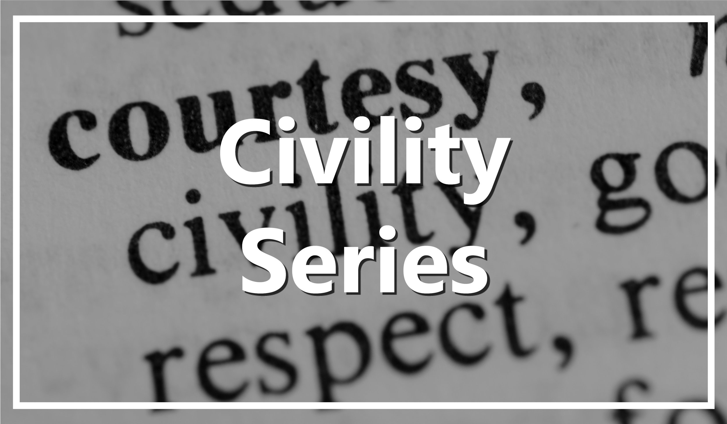 Every other month, we join together in Washington, DC to feature leaders who exemplify civility through their work.    Discover More →