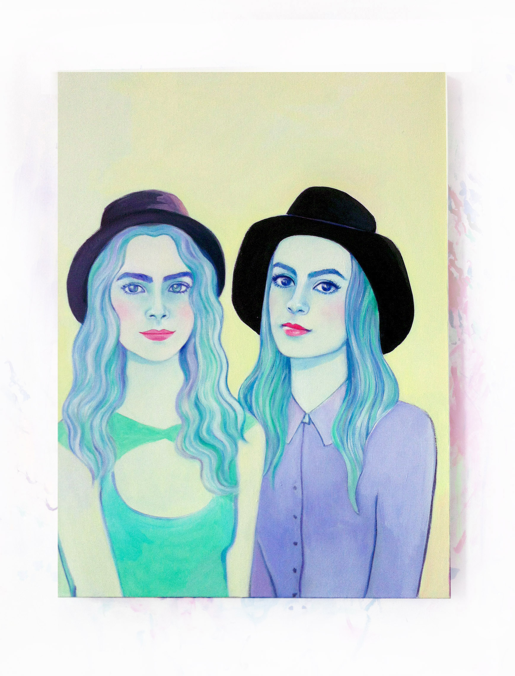lizzy and carla, oil on canvas, 22 x 24 in.2014