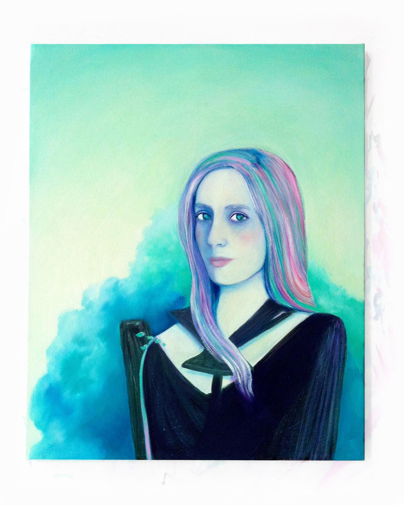 selfie,oil on canvas, 22 x 24 in.2014