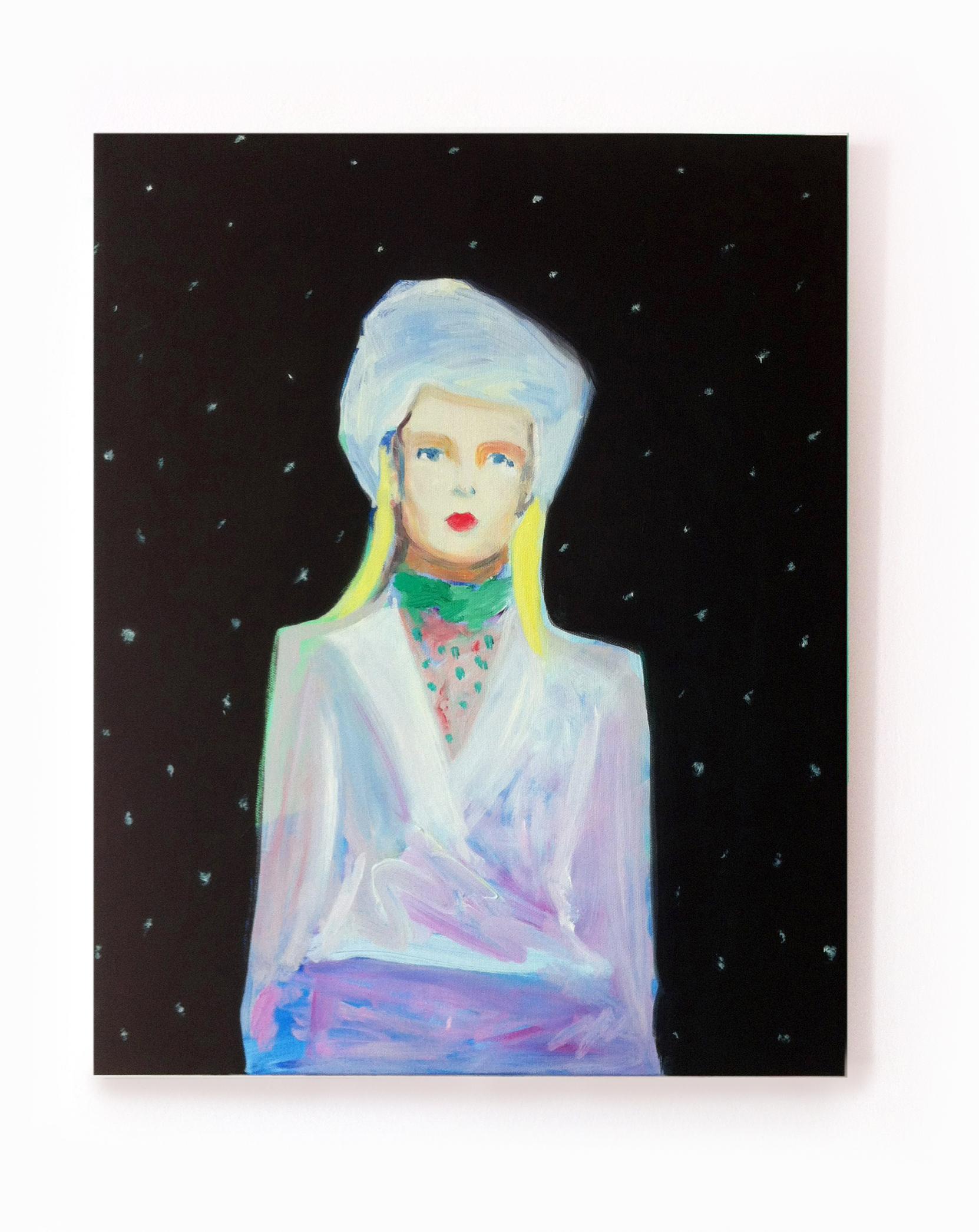 Turbante, oil on canvas,  20 x 16 inches, 2015  © Pilita Garcia