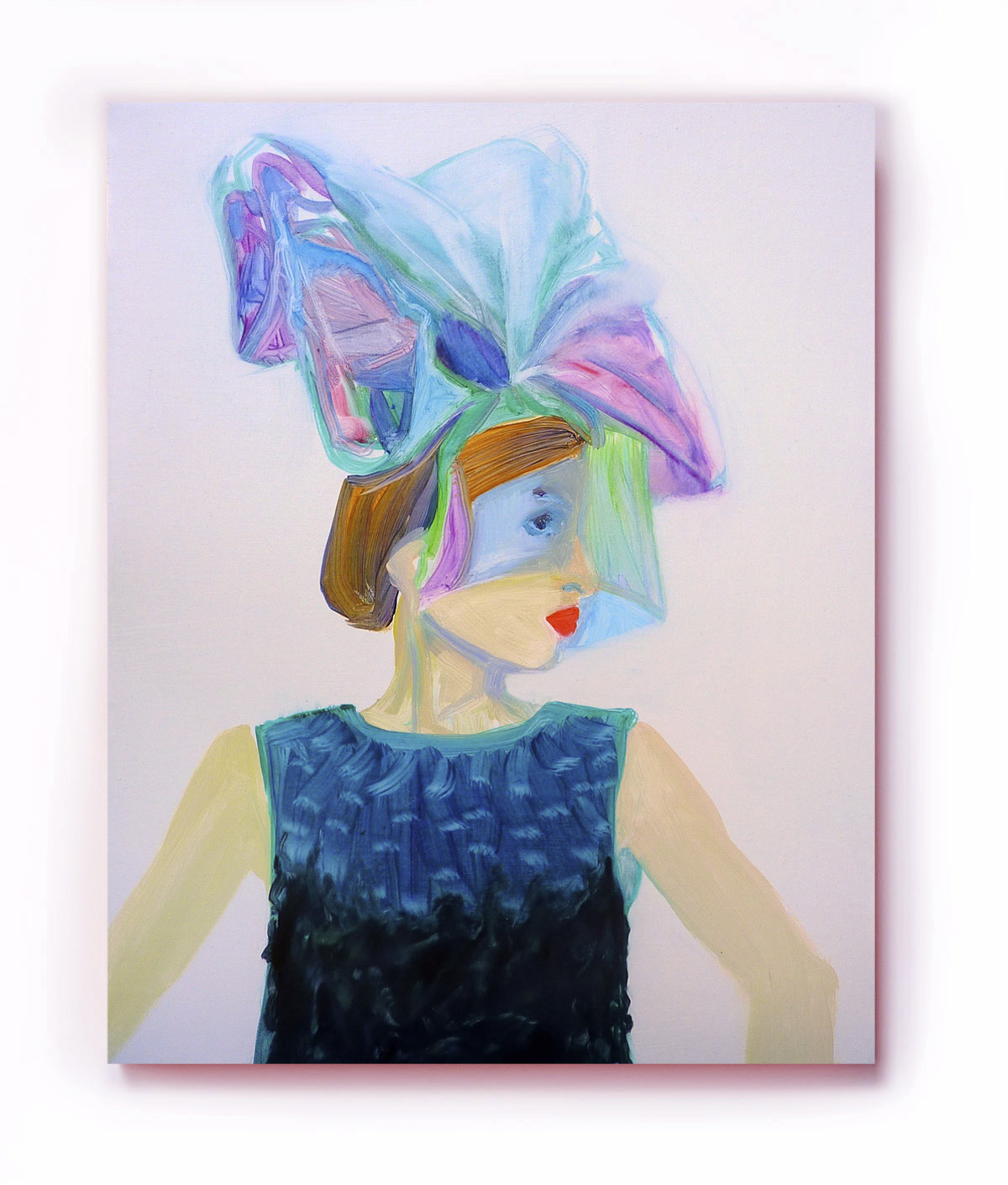 Cellophane Hat, oil on canvas, 16 x 20 inches, 2012 © Pilita Garcia