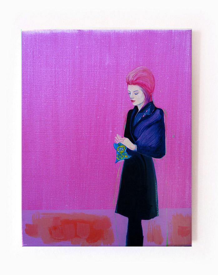 Bubbly, oil on canvas, 8 x 10 inches, 2015 © Pilita Garcia