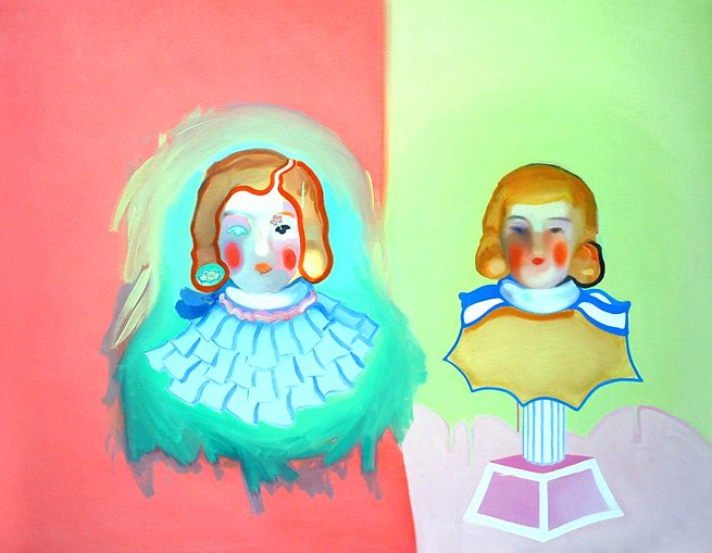 ghost or reflection, oil on canvas, 48 x 56 in. 2007