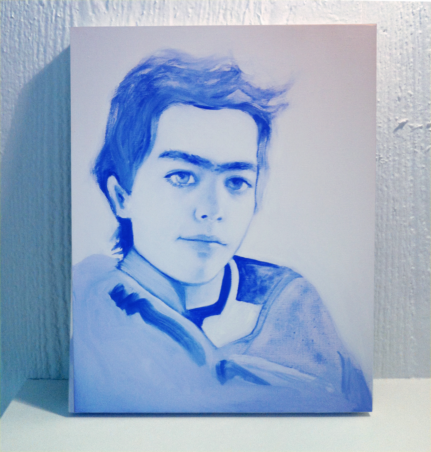 Sebastian , Oil on Wood, 11 x 17 in.
