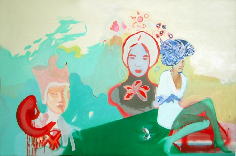 artifact, oil on canvas, 48 x 72 in. 2006