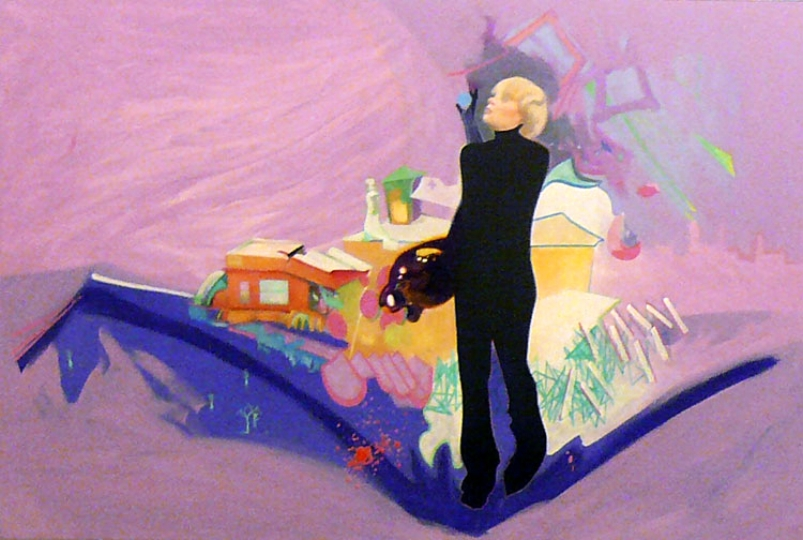 zeb, oil on canvas, 48 x 72 in. 2005