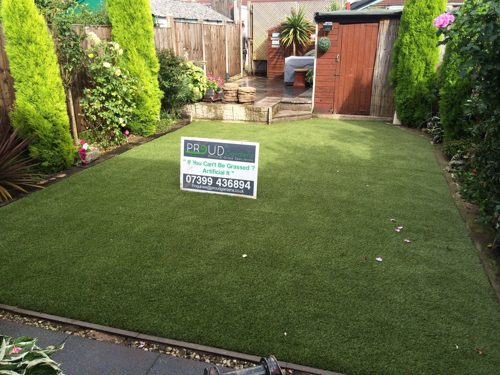 Artificial Grass in the backyard