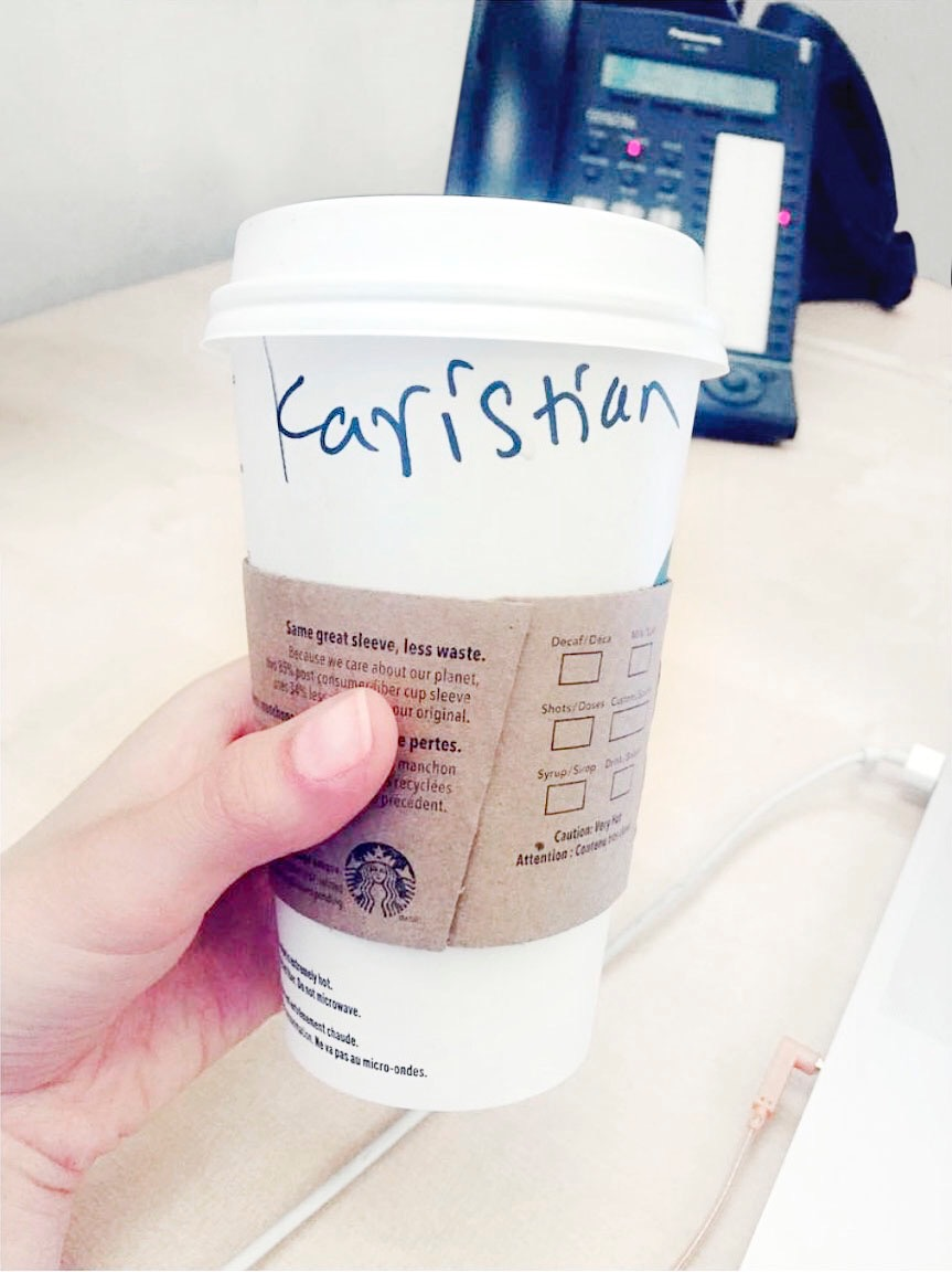You thought I was joking? No, no. This problem didn't just happen to me on paper cups. It happened to me every day. lol! *Slaps face out of exhaustion over a name*  #whatsinaname