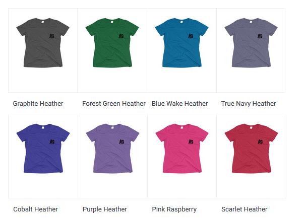Regular fit.  100% Polyester jersey. Light Fabric (3.8 oz/ yd² (129 g/m²))  Tear away label.  Runs true to size.