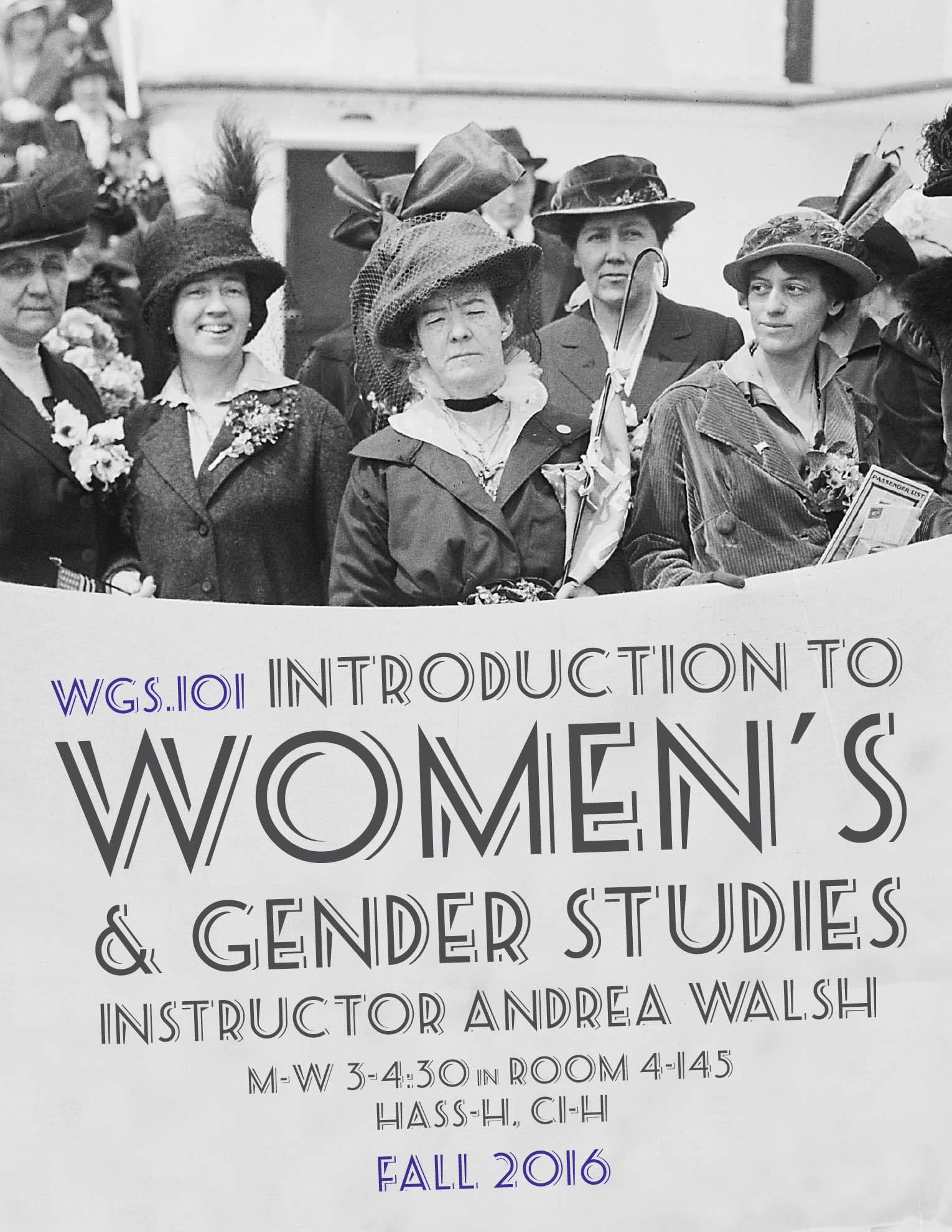 WGS.101   Introduction to Women's and Gender Studies   Register Now