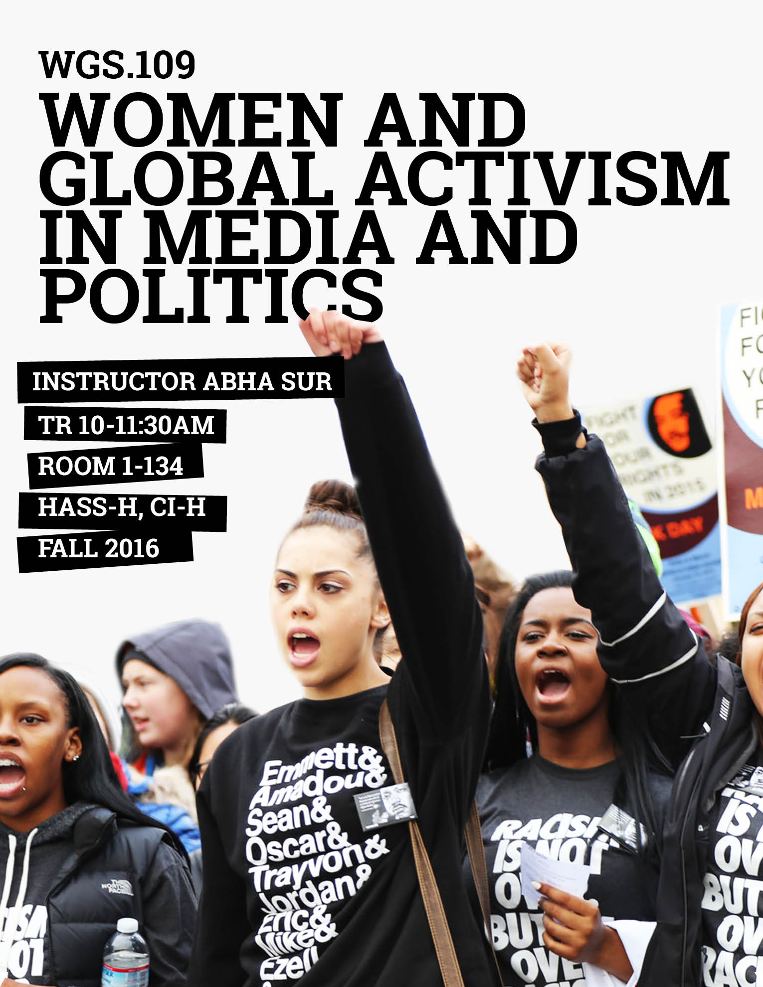 WGS.109   Women and Global Activism in Media and Politics   Register Now