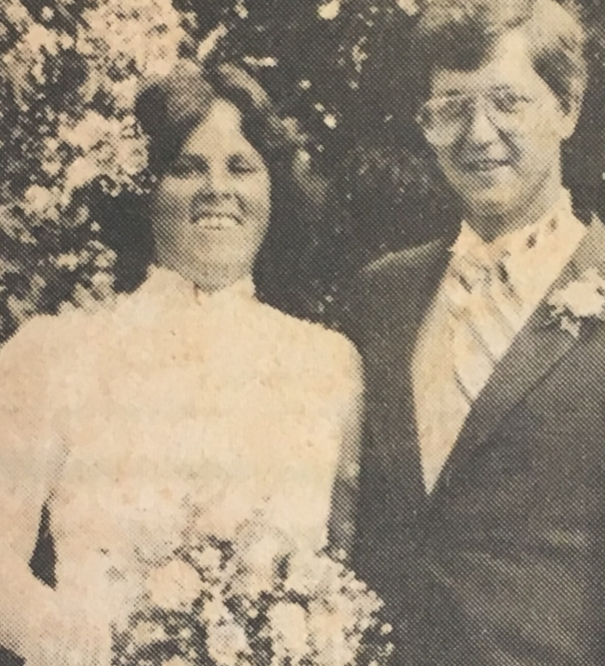 Stacy & Art's wedding, 1984.