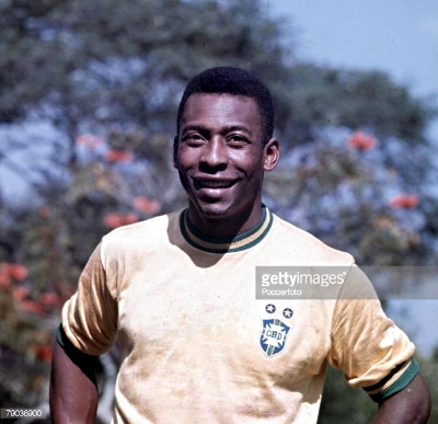 Pele, the worlds greatest player and all time top scorer in world football.