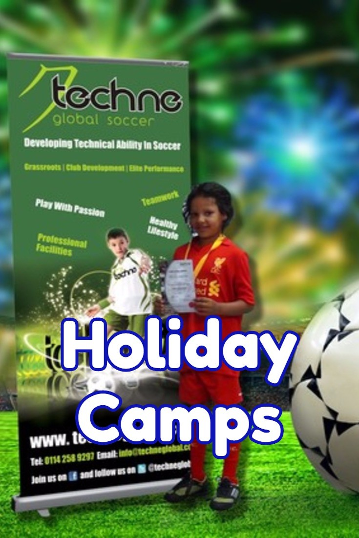 Techne Global Sports summer football camps in Sheffield every half term and summer holiday for children under 14