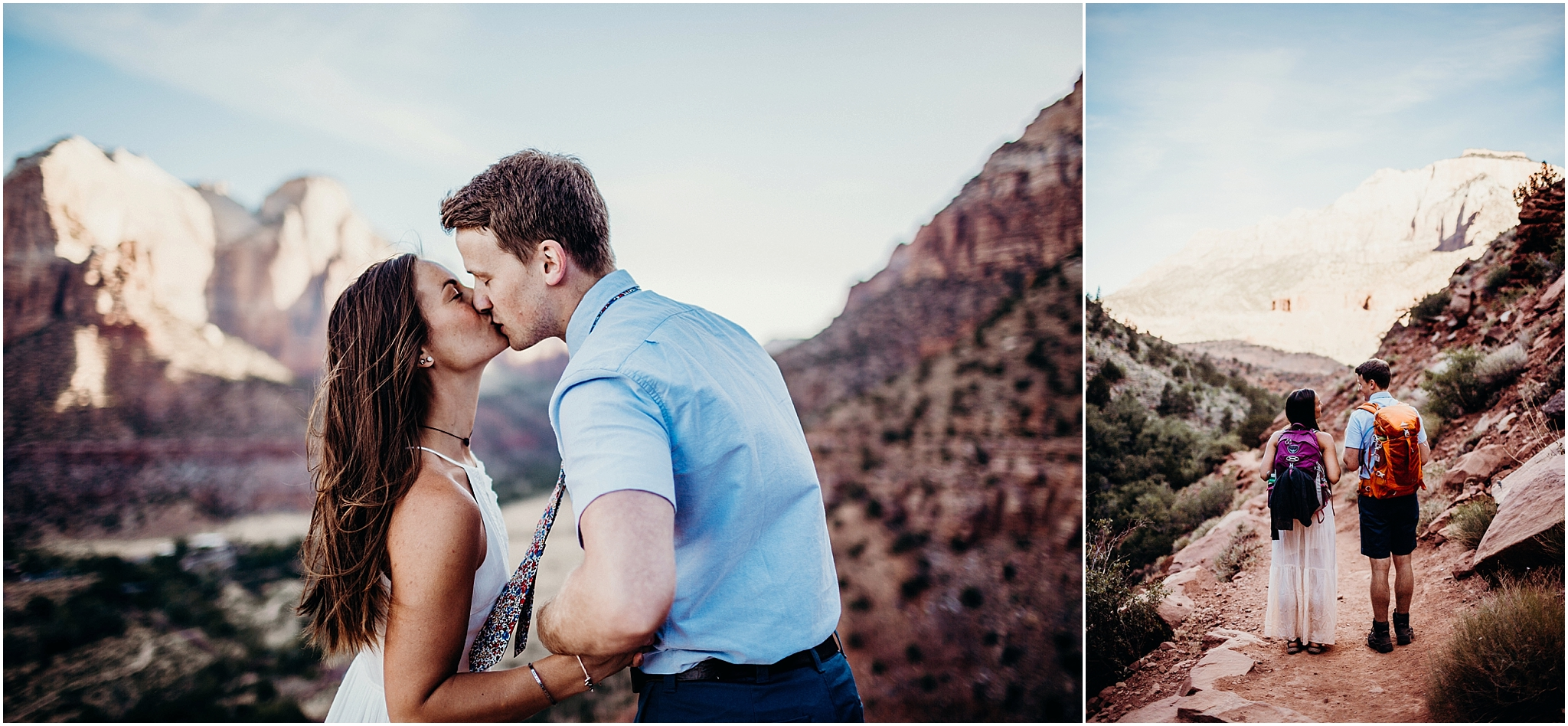 zion national park adventure engagement session zion portraits utah photographer arizona photographer 8.jpg