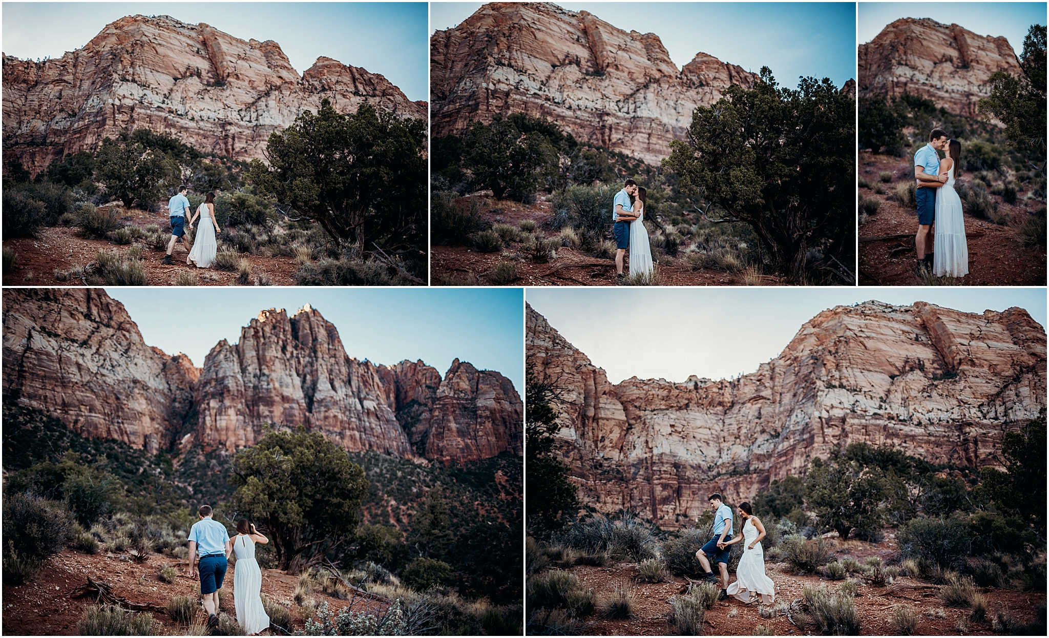 zion national park adventure engagement session zion portraits utah photographer arizona photographer 16.jpg