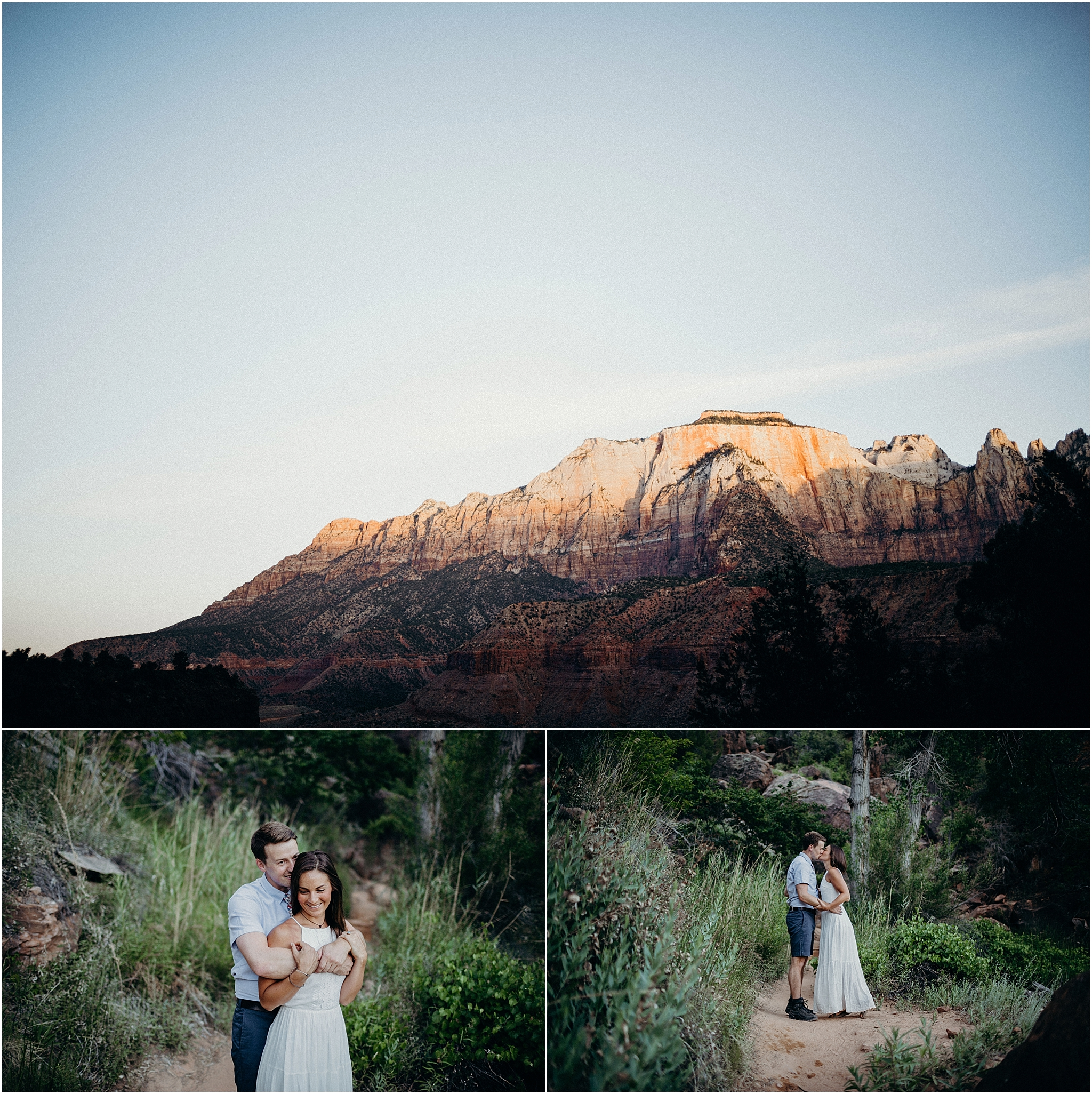 zion national park adventure engagement session zion portraits utah photographer arizona photographer 19.jpg