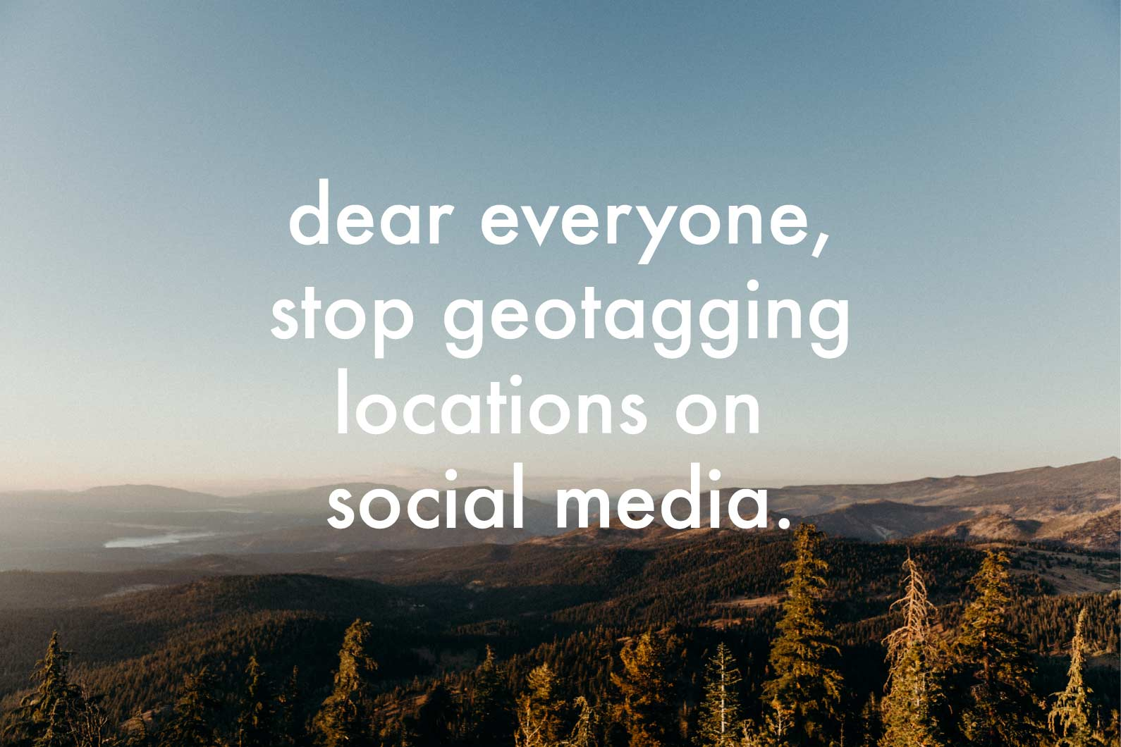stop geotagging locations