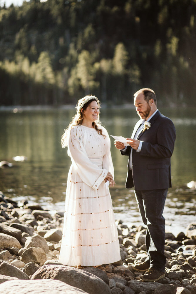 carrie & tim - Morning elopement on the shore of a lake north of Truckee. These two called me 3 days before their plans, and we made it happen!