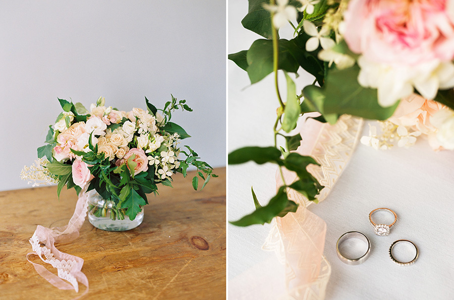 Wild and whimsy wedding bouquet by  Bloom & Co