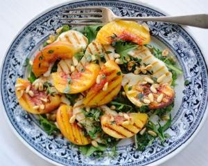 Halloumi Peach Salad: A Summer Favorite of Ema's