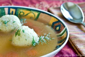 Mother's Chicken Escarole Soup with Matzo Balls