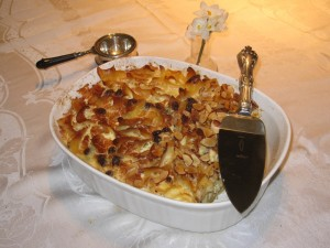 Amaretto Noodle Kugel