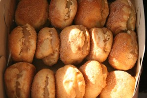 Baked Cinnamon Doughnuts with Cardamom Preserve