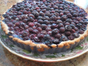 Bursting with Blueberries Tart