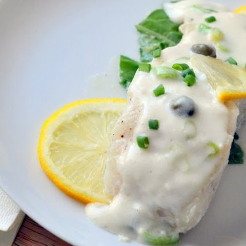 Fish with Sour Cream and Onions