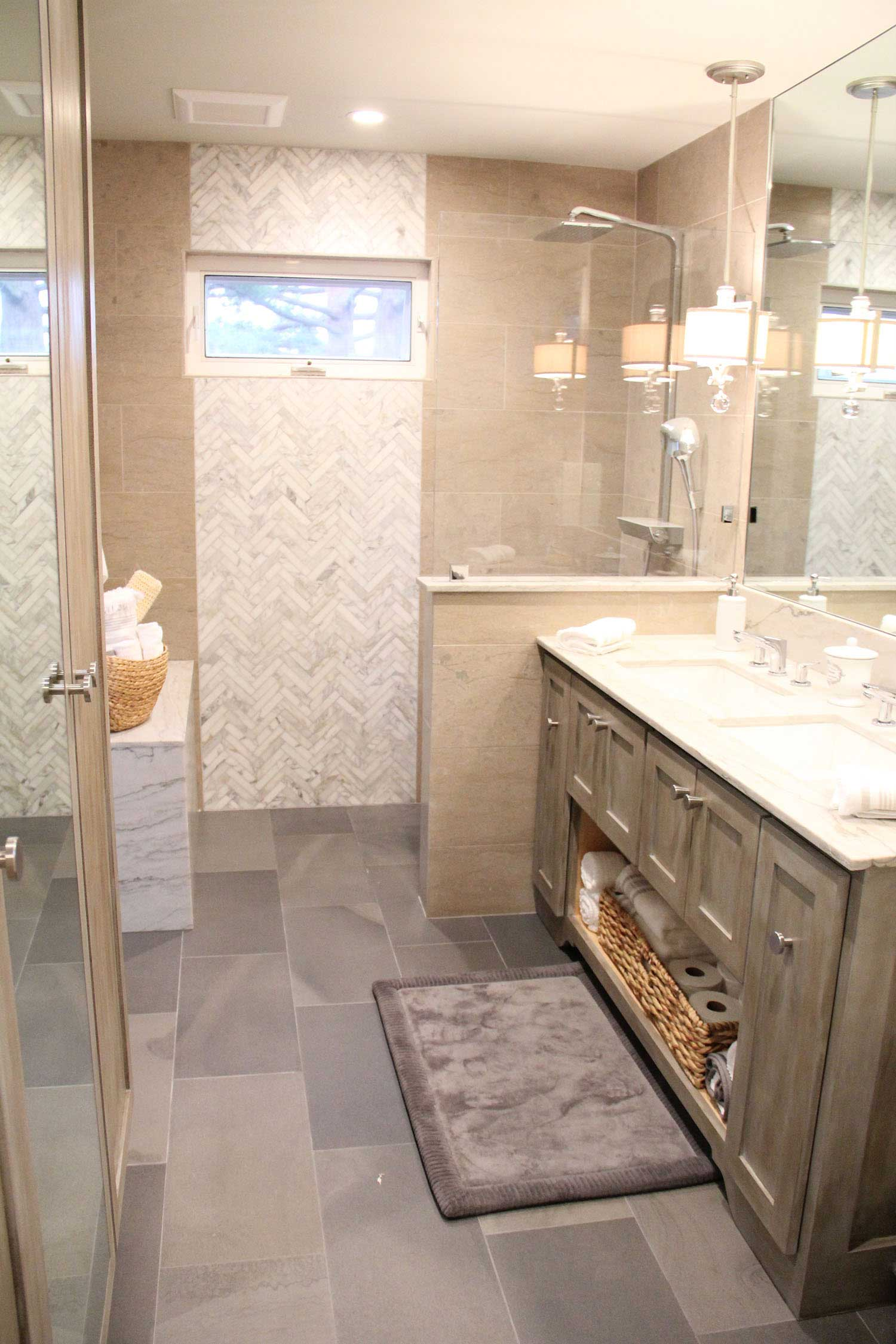 Bathroom Remodel with Custom Features