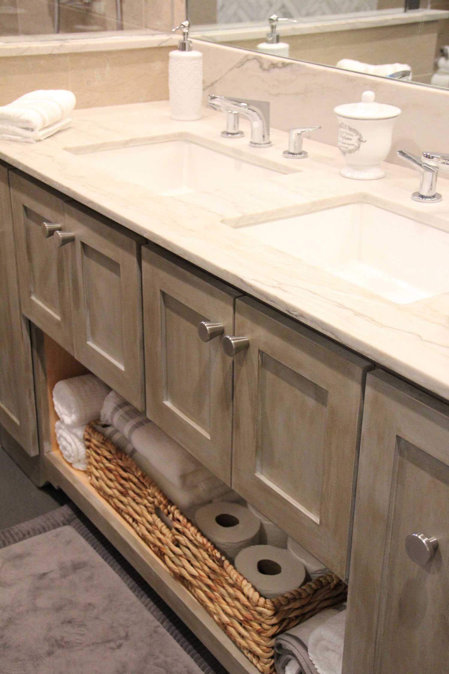 Custom Built Bathroom Sink and Cabinet