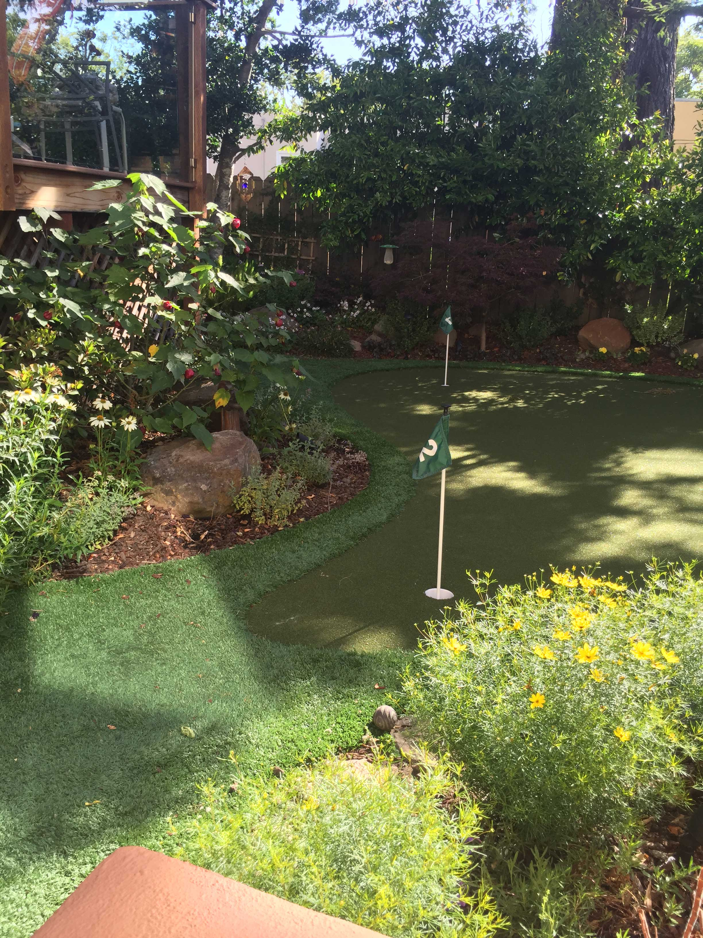 Drought Tolerant Back Garden Putting Green