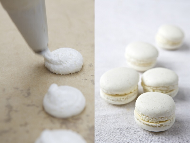 Macarons Filled with Hazelnut Butter and Jam.