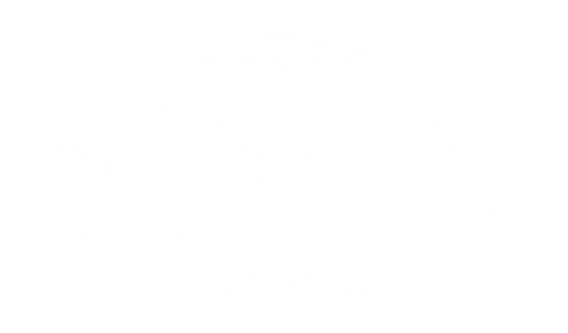 The Barbell Academy Badge Logo